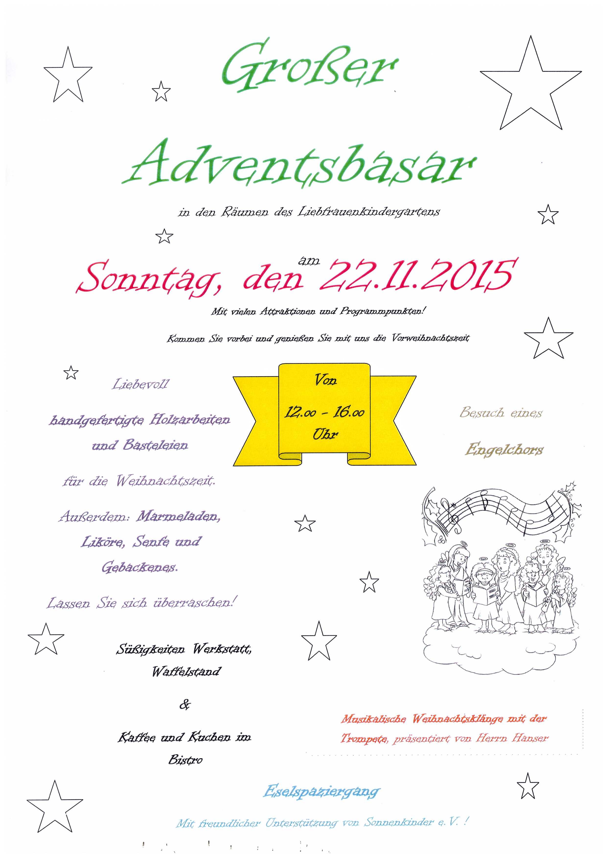 Adventsbasar 2015 Plakat